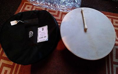 """Stentor 18"""" Bodhran with natural skin  including tipper"""