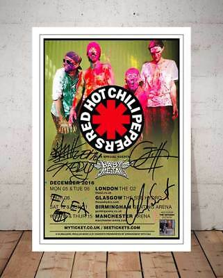 Red Hot Chilli Peppers The Getaway 2016 Tour Autographed Signed Photo Print