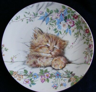 Hamilton Royal Worcester Kitten Classics 21cm Plate Cat Nap - See Photos