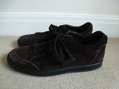 Mens HOGAN Brown Suede Leather Trainers Size 7.5/EU 41