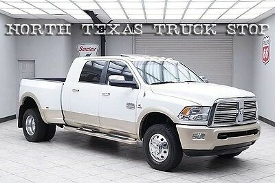 2012 Dodge Ram 3500 Laramie Longhorn Crew Cab Pickup 4-Door 2012 Dodge Ram 3500 Diesel 4x4 Dually Longhorn Navigation DVD Sunroof TEXAS