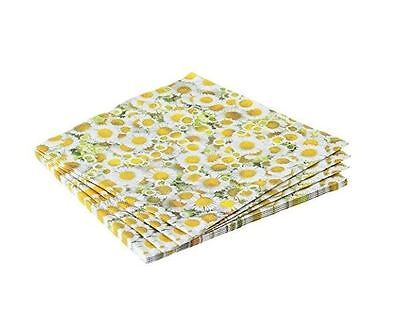 Gisela Graham Pack Of 20 Vintage Retro Daisy Daisies Paper Napkins Easter Party