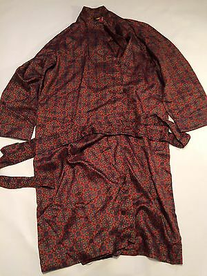 vintage dressing gown smoking jacket  mens L Robe Paisley Men's 80s Tricel