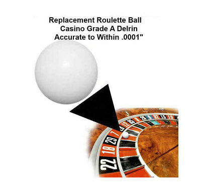 (Two) 3/4 Inch Casino Grade Roulette Ball (Pill) - Item 20-1006x2
