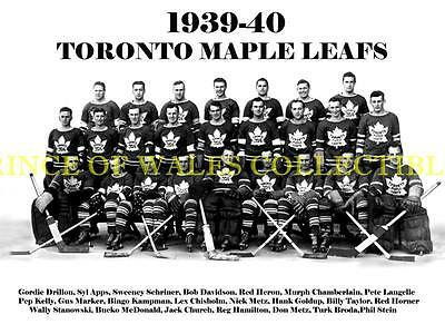 1940 Toronto Maple Leafs Team Photo 8X10