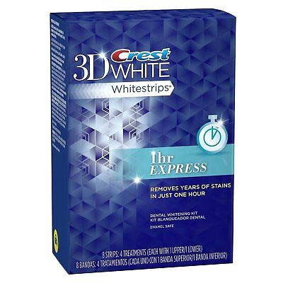 Crest 3D White 1 Hour Express, 8 Strips 4 Treatments