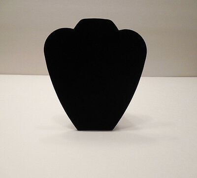 """Black Velvet Necklace Jewelry Stand Display 8 1/2"""" Tall"""