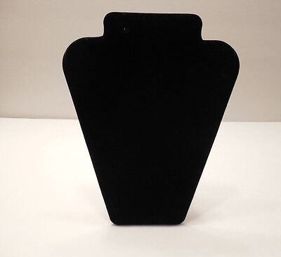 """Black Velvet Necklace Jewelry Stand Display 11 1/2"""" Tall"""