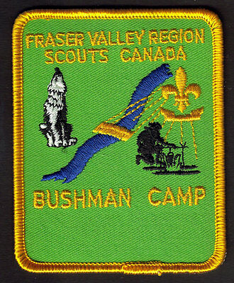 Boy Scouts Canada Fraser Valley Region B.c. Bushman Camp Embroidered Patch