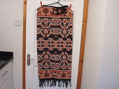 "Vintage New And Unused Ikat Hanging From Indonesia With Birds Design 42"" X 19"""