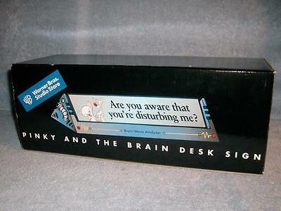 Pinky and the Brain Desk Sign Brain Wave Analyzer Warner Bros Studios 1999 New