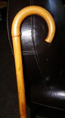 "Antique Bamboo Japanese Walking Stick Cane 37"" long x 3"" round Collectible Cane"