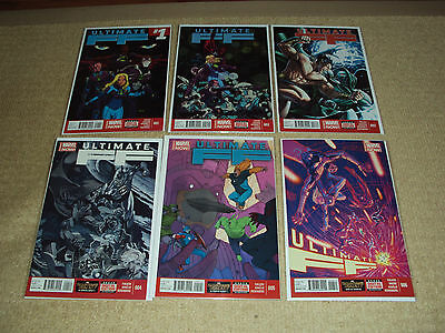 6 Ultimate Marvel Comic Books, Ultimate Ff #1 - 6, Complete Set, First Print, Nm