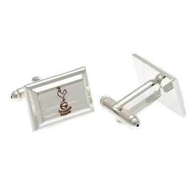 Official Licensed Product Tottenham Hotspur Silver Plated Cufflinks Gift Box New