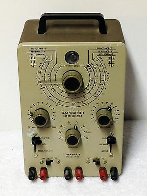 Heathkit IT-28 Capacitor Checker RLC Resistance Bridge Green Tube Eye