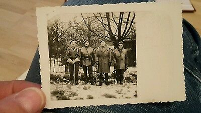 Wwii Photograph. British Soldiers Wearing Leather Jerkins