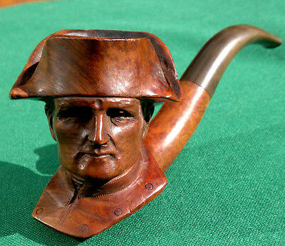 Vintage French Fine Carved Briar Pipe Napoleon Head