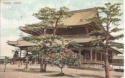 Lovely Vintage Postcard,japan Temple,kioto,posted Cirencester,1907