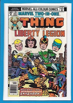 Marvel Two-In-One #20_October 1976_Fine+_The Thing_Liberty Legion_Bronze Age Uk!