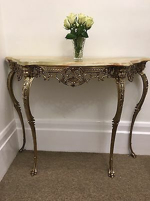 Stunning French Rococo Style Marble Console Table.