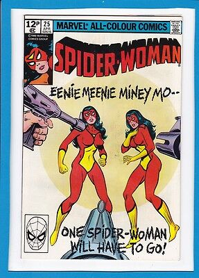 Spider-Woman #25_April 1980_Very Fine_Spider-Woman X2_Bronze Age Uk Marvel!