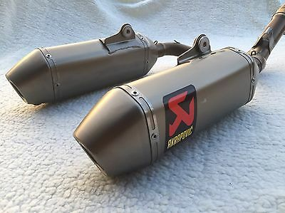 Honda Crf 450R 2015-2016 Complete Akrapovic Twin Exhaust System.