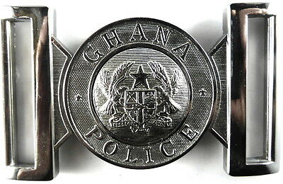 Ghana Police Chrome Belt Buckle