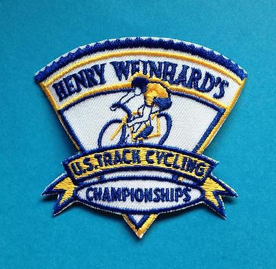 USA US Track  Cycling Championships Patch Crest Olympics Henery Weinhard's
