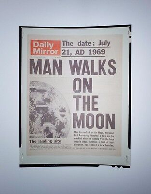 Rare - Man Walks On The Moon - Daily Mirror - 1969 - Transparency.