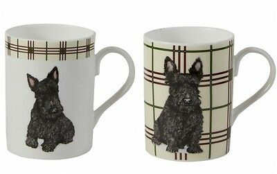 Roy Kirkham Scottish Terrier Mugs Set of 2 Fine Bone China Scottie Dog Lovers