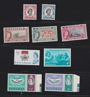 Stamps Bahamas QEII selection MH
