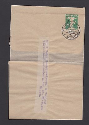 Prepaid early wrapper Switzerland used 1920