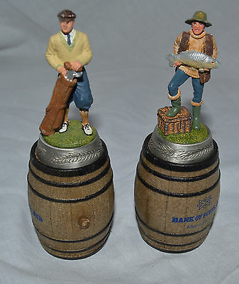 Bank Of Scotland Set of 2 Cork Bottle Stoppers Collectable