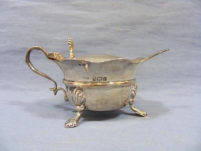 EDWARDIAN SOLID SILVER FOOTED LIDDED MUSTARD POT GLASS LINER & SPOON c1905