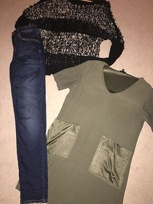 ladies clothes bundle topshop and river island items size10