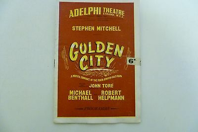 "1950  Programme - "" Golden City ""  Adelphi  Theatre."