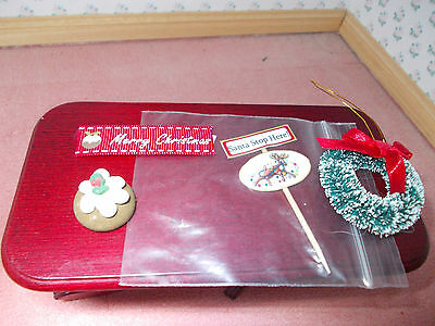 Mixed Christmas Items For A Dolls House