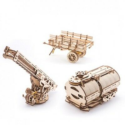 Set of Additions for UGM-11 Truck model Ugears Self-Propelled Wooden Kit Puzzle