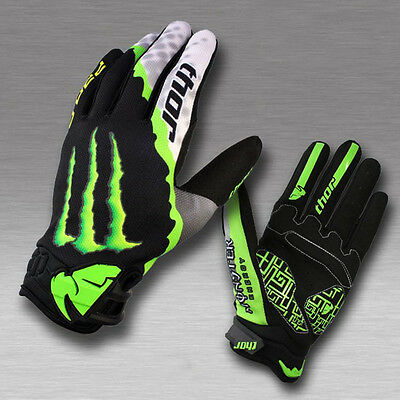 2016 Mens Thor Cycling Racing Full Finger Gloves MTB DH Bike Bicycle Silicone M