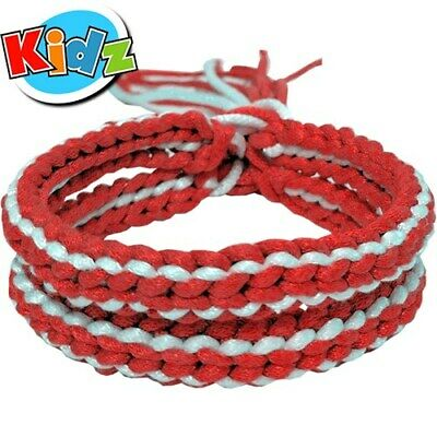 Red & White (Kids) Muay Thai Thaiboxing Fighter Syllabus Arm Bands