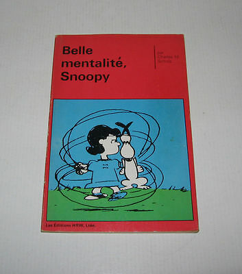 Belle Mentalite Snoopy,eo 1972 Tbe,hrw Canada ,peanuts,schulz,charlie Brown