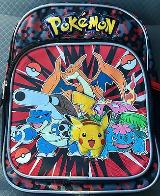 "Pokémon 10"" Mini Back Pack...Perfect For Plush And Trading Cards, Etc..."