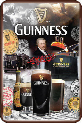Guinness Metal Sign- 250th Collage