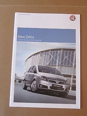 Vauxhall Zafira 2005 Models Uk Sales Brochure - Dated July 2005