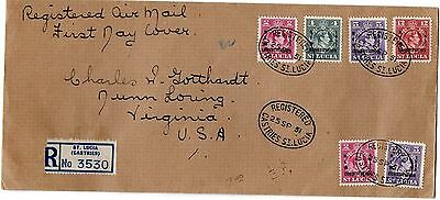 St LUCIA  1951  FIRST DAY COVER