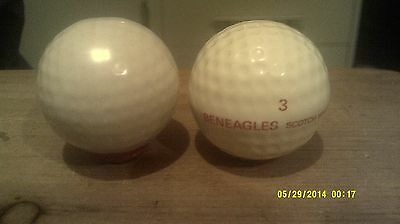 GLENEAGLES WHISKY  GOLF bALL MINIATURE DECANTER + 1 OTHER