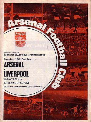 ARSENAL v LIVERPOOL 1968/69 LEAGUE CUP