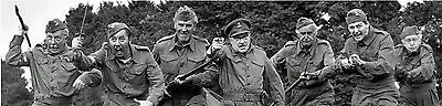 Dads Army Home Guard Vintage Ww2 Lifesize Canvas Charging 12Feet By 3 Feet