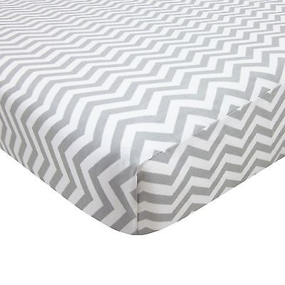 American Baby Company 100% Cotton Percale Fitted Portable/Mini-Crib Sheet Zig...