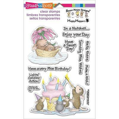 """Stampendous """"Mice Wishes - Birthday"""" Clear Stamp Set Sscm5000 - New"""